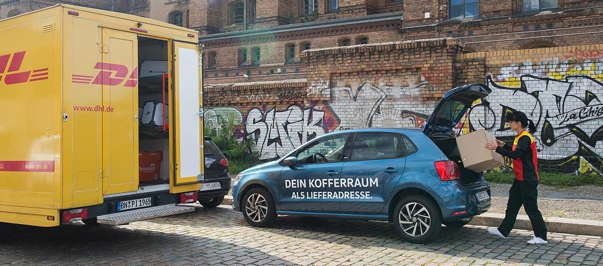 Vw Und Dhl Starten Pilotprojekt Für Lieferung In Kofferräume Autos