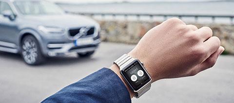 Volvo on Call App auf einer Apple Watch